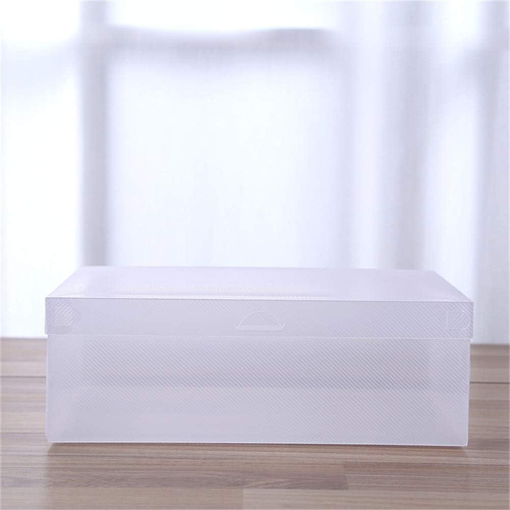 5pcs Folding Storage Shoe Box Clamshell Shoe Storage Box Transparent Plastic Shoe Box Moisture-Proof Thick Transparent Shoe Box