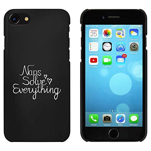 Noir 'Naps Solve Everything' étui / housse pour iPhone 7 (MC00077629)