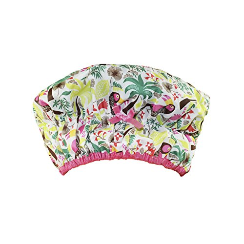Betty Dain Fashionista Collection Mold Resistant Lined Shower Cap, Tropical ()