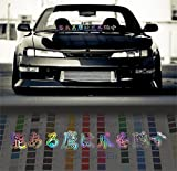 japanese car accessories - Stay Humble in Japanese only windshield stance car decal Decal Sticker - Oil Slick - 36