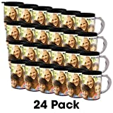 PixMug with Handle - 24 Pack - Photo Mug – The Mug That's A Picture Frame - DIY - Insert your own photos or designs – 15 oz with spill proof top