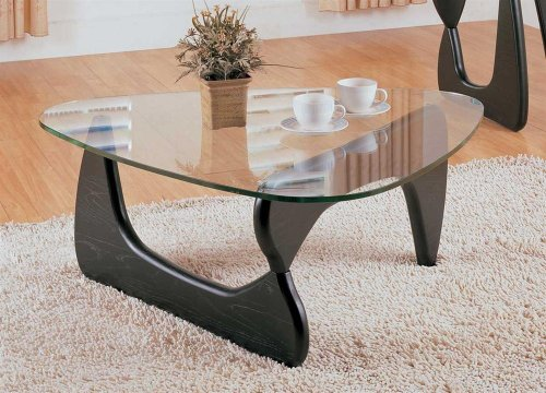 Homelegance Set Coffee Table - Homelegance Chorus Glass Top Cocktail Table in Black