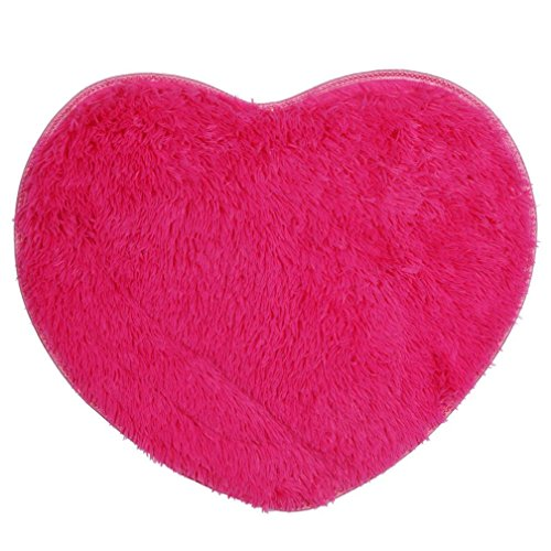 Hot Pink Contemporary Rug (Soft Anti-skid Carpet Living Room Bedroom Shaggy Carpet, 60*70cm/23.6*27.5