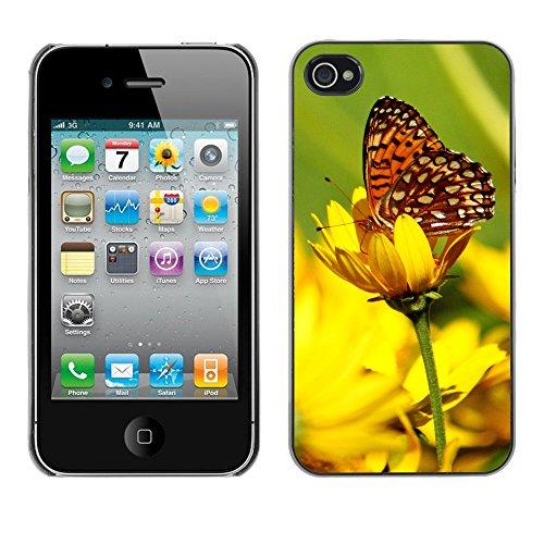 Premio Sottile Slim Cassa Custodia Case Cover Shell // F00013042 papillon // Apple iPhone 4 4S 4G