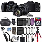 Canon PowerShot SX530 HS Digital Camera 9779B001 + Backup Battery + 64GB Class 10 Memory Card + Macro Filter Kit + UV-CPL-FLD Filters + 43'' Monopod Selfie Stick - International Version