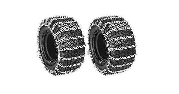 Amazon.com: Par 2 Link Tire Cadenas 23 x 10,50 – 12 para ...