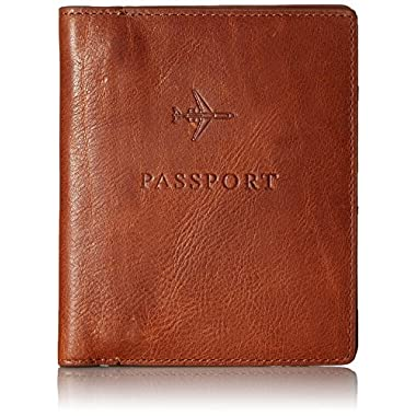 Fossil Men's Passport Case, Cognac, One Size
