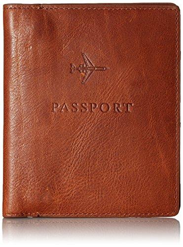 Fossil Men's Passport Case-Cognac, Dark Brown, One Size