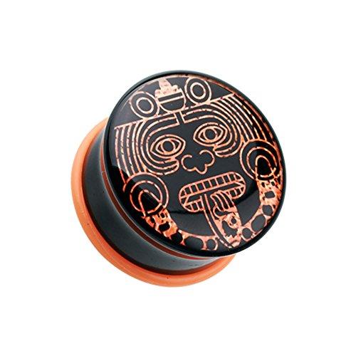 Mayan Calendar God Single Flared WildKlass Ear Gauge Plug (Sold as Pairs)