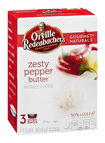 Orville Redenbacher's Gourmet Naturals: Zesty Pepper Butter (Pack of 2) 3 Count Boxes
