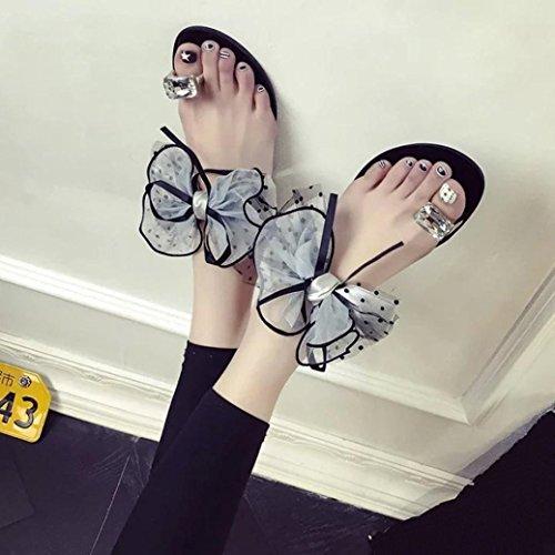 Zapatillas por Zapatilla Verano Gris y Mujer Estar Sandalias Punta de Talón Color Redonda 2018 Sandalias Chanclas Casa Playa Bajo Zapatos Casual WINWINTOM Puro Moda qX8xnRwd