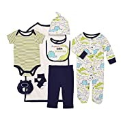 Baby Starters 9-Piece I Wasn't Born Yesterday Layette Gift Set Blue/Green / Black 0-3 Months