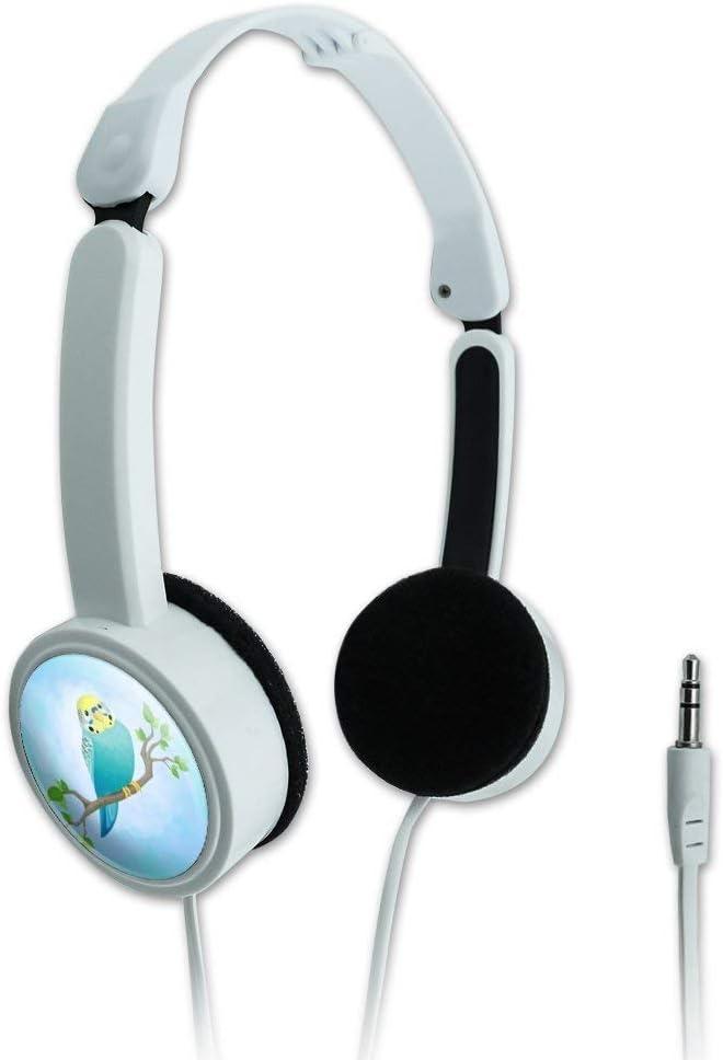 GRAPHICS /& MORE Pretty Parakeet Budgie Novelty Travel Portable On-Ear Foldable Headphones