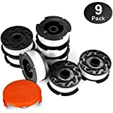 "Eventronic Line String Trimmer Replacement Spool, 30ft 0.065"" Autofeed Replacement Spools for BLACK+DECKER String Trimmers, 9 Pack (8 Replacement Spool, 1 Trimmer Cap)"