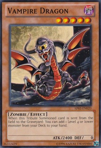 Yu Gi Oh Vampire AP03 EN020 Booster Unlimited product image