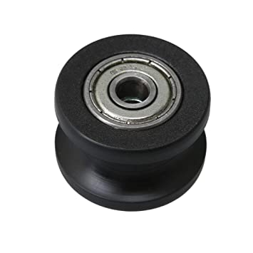 Mxfans Plastic Bearing Guide Pulley Wheels for Slide Gate and Window Set of 2