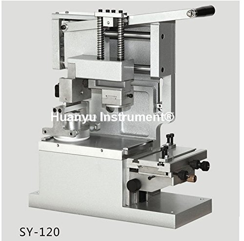 SY-120 Desktop Manual Round Pad Printer Move ink Printer Printing Machine(with ink cup,white color,without plate)