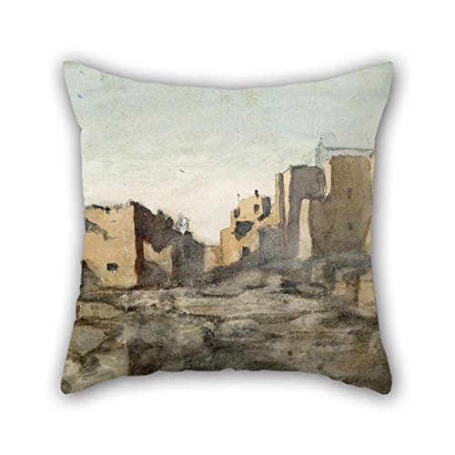 10th Shoes Costume Doctor (Alphadecor The Oil Painting Vincent Colyer - Moqui Village Cliff Dwellings Arizona Throw Pillow Case Of ,16 X 16 Inches / 40 By 40 Cm Decoration,gift For)