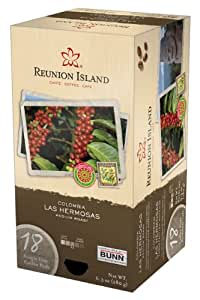Reunion Island RI58001 Colombia Las Hermosas Single Cup Coffee Pods, 18-count