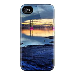 New Magnificent Bridge Scape Hdr Tpu Skin Case Compatible With Iphone 4/4s
