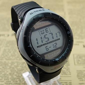 Plata 2013 Nueva moda energía Solar Multifuncional Deporte Escalada reloj digital Militray reloj Big Face impermeable reloj para hombre: Amazon.es: Relojes