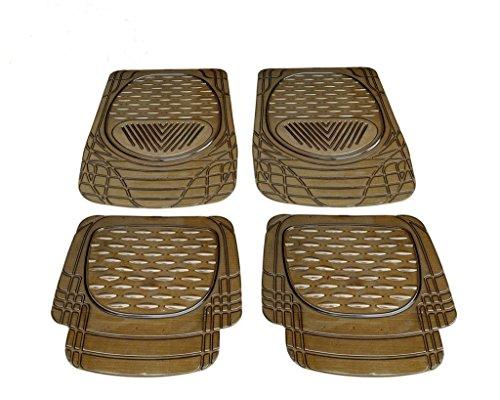 Kozdiko Heavy Duty Black 4pcs PVC 6204 Rubber Smoke car mats for   Maruti Suzuki Ertiga