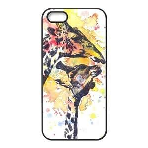 the Case Shop- Customizable Giraffe iPhone 5 and iPhone 5S TPU Rubber Hard Back Case Cover Skin , i5xq-447