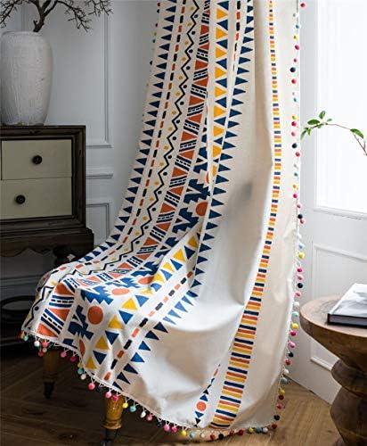 Best window curtain panel: YOU SA Colorful Geometric Striped Print Curtains Cotton Linen Blend Rod Pocket Window Treatment Set