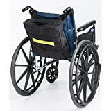 Secure Wheelchair Backpack Bag With Top, Front, Side Pockets & Safety Reflector Strip, Black - Waterproof Nylon Material - One Year Warranty (13x12.5x3) by Secure®