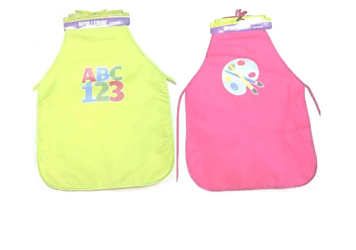 Greenbrier 20 20 2 Pack-Pink /& Lime Crafters Sqaure Kids Fun Character Aprons