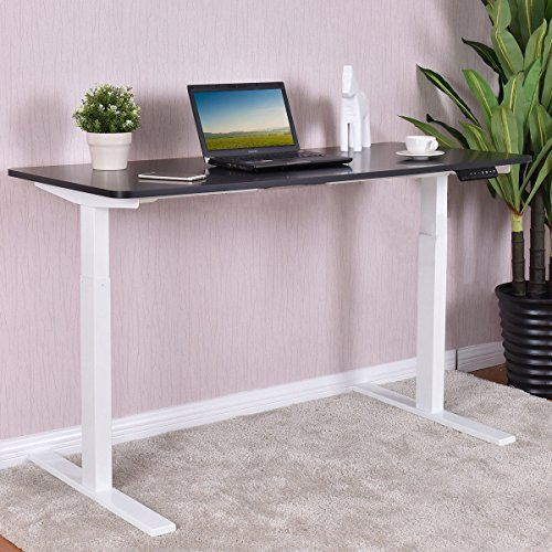 Tangkula Standing Desk Home Office Wood Height Adjustable 55'' Sit-Stand Desk Stand Up Desk by Tangkula
