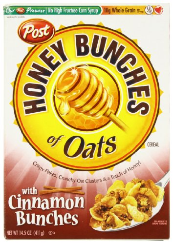Post Honey Bunches of Oats Cinnamon Clusters, 14.5 oz - Honey Bunches Of Oats Cinnamon