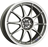 Enkei J10 (17 x 7, 5 x 100 & 5 x 114.3) 38mm Offset, Silver, (1) Wheel/Rim