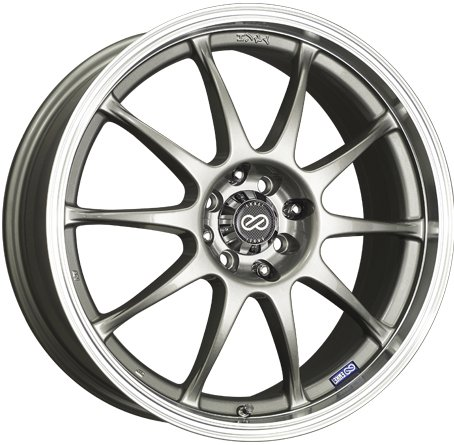 16×7 Enkei J10 (Silver w/ Machined Lip) Wheels/Rims 4×100/114.3 (409-670-10SP)