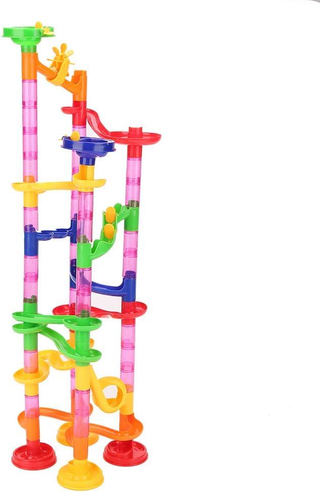 Marble Maze Race Game Set Diversi/ón Educativa Stem Construcci/ón de Juguetes de construcci/ón Regalo para ni/ño ni/ña 4 5 6 7 8 9+ Tnfeeon Set de Marble Run 29pcs+15 Glass Marbles