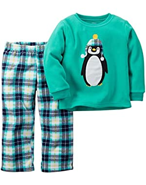Carter's Boys' Penguin Pajama Set