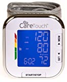 Care Touch Fully Automatic Wrist Blood Pressure Cuff Monitor - Platinum Series, 5.5'' - 8.5'' Cuff Size- Batteries Included