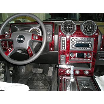 hummer h2 h 2 h 2 interior burl wood dash trim kit set 2003 2004 2005 2006 2007. Black Bedroom Furniture Sets. Home Design Ideas