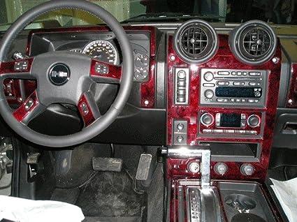 Amazon Hummer H2 H 2 H 2 Interior Burl Wood Dash Trim Kit Set