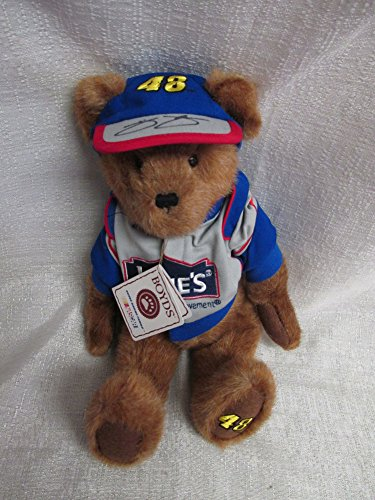 Jimmie Johnson Autographed Signed Boyds Bear Plush Lowes Nascar Racing #48 919406 JSA Authentic J73128 (Nascar Racing Boyds)