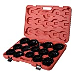 Goplus® 30PCS Auto Oil Filter Wrench Socket Removal Tool Set Cap Type, For Mercedes Benz, Audi, VW, Porsche, Mazda, Volkswagen and More,W/case