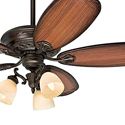 "Hunter Fan 54"" Tuscan Gold Finish Ceiling Fan - 3 Position Mounting (Certified Refurbished) …"