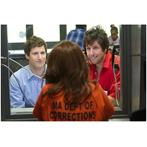 That's My Boy (2012) 8 Inch x 10 Inch Photo Adam Sandler & Andy Samberg Talking to Patient at Prison kn