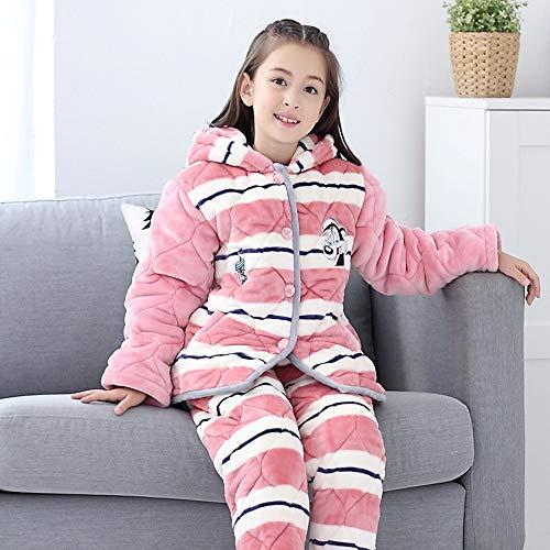 À Grands Costume Service Enfants Épaississement Domicile Oppp Filles Coral Fleece Pour Pyjama Pyjamas Hiver Chauds LVpSUGjqzM