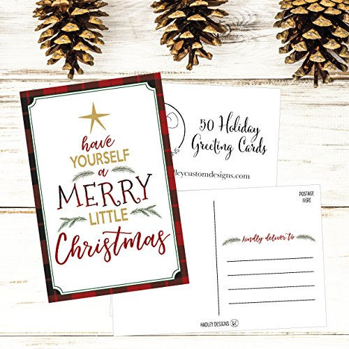 50 Tree Holiday Greeting Cards, Cute & Fancy Blank Winter Christmas Postcard Set, Bulk Pack of Premium Seasons Greetings Note, Happy New Years Cards for Kids, Business Office or Church Thank You Notes Photo #4