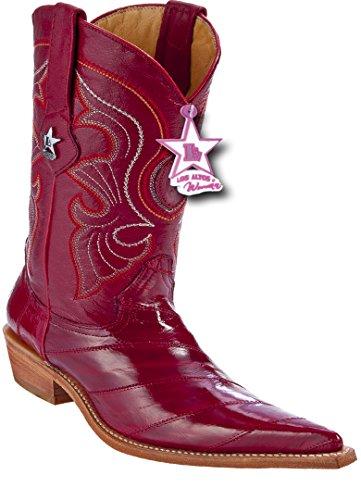 Botas De Piel De Ex De Piel Genuina 3x-toe Para Mujer Western Botas Red