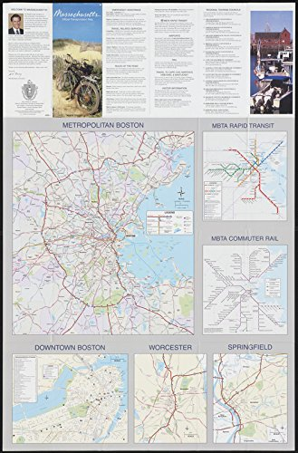 Historic Map | 2003 Massachusetts official transportation map : [verso] | Antique Vintage - Road 30 Worcester