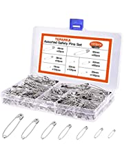 TUPARKA Assorted Small Large Safety Pins for Home Office Use Art Craft Sewing Jewelry Making in a PP Box