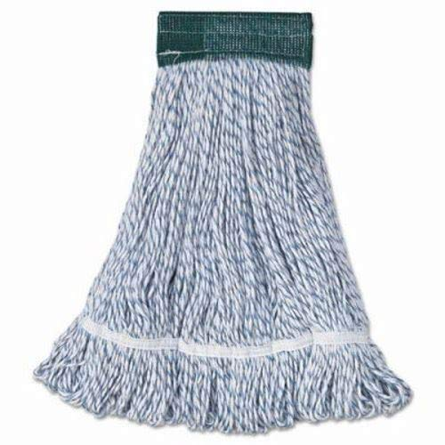 Boardwalk 552 Mop Head, Floor Finish, Wide, Rayon/Polyester, Medium, White/Blue (Case of 12) by Boardwalk (Image #1)
