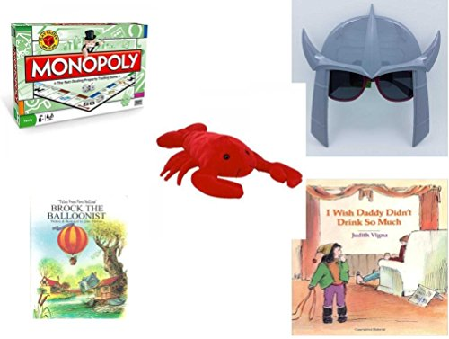 Children's Gift Bundle - Ages 6-12 [5 Piece] - Monopoly Board Game by Hasbro - November 2015 Loot Crate TMNT Shredder Shades Toy - TY Beanie Buddy Pinchers The Lobster 15